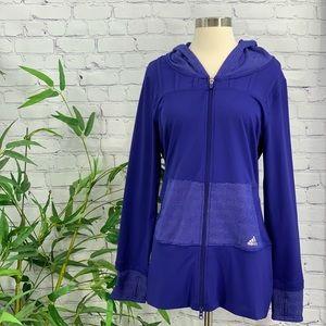 Adidas Purple Hoodie w/ Thumb Holes & Pockets